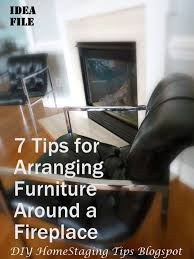 diy home staging tips how to arrange furniture around a fireplace