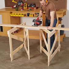 Wood Magazine Ladder Shelf Plans by Folding Sawhorses Woodworking Plan From Wood Magazine