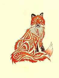 tribal fox by therebornwolf deviantart com on deviantart
