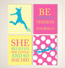 girls soccer wall art soccer room decor girl swimmer wall zoom