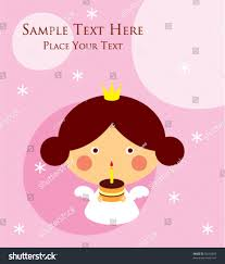 cute little princess angel birthday greeting stock vector 50192083