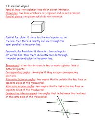 Same Side Interior Angles Postulate Corresponding Angles