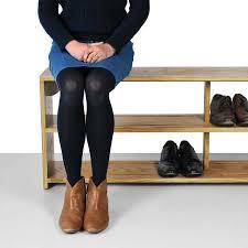 oak shoe bench