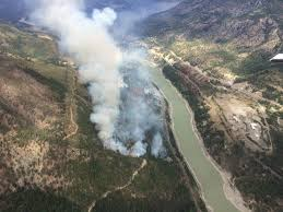 British Columbia Wildfire Service by Update Progress Made On South Spencer Road Fire Near Lytton