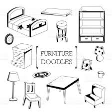 hand drawing styles of furnitures stock vector art 668656734 istock