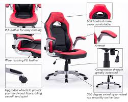 Leather Rolling Chair by Amazon Com Executive Swivel Pc Gaming Racing Desk Chair Pu
