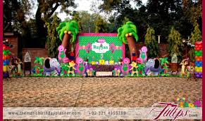 Barney Party Decorations Hawaiian Birthday Party Tulips Event Management