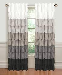 dainty home silver u0026 black ombré ruffle flamenco window panel zulily