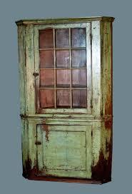 antique painted corner cupboards early glass door corner