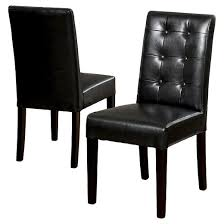 Leather And Wood Chair Roland Leather Dining Chair Set 2ct Christopher Knight Home Target