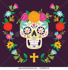 dia de los muertos decorations dia de los muertos day dead stock vector 730666516