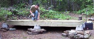 cabin floor building small cabin floor