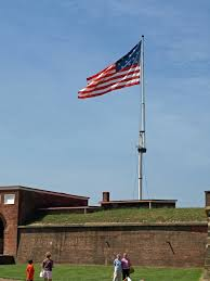 Flying Flag American Flag Flying Over Fort Mchenry Pics4learning