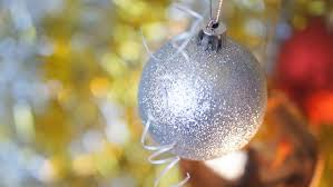 new year and decoration silver and golden balls