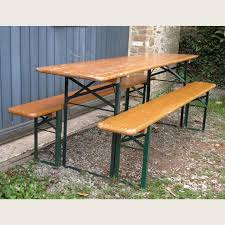 german beer garden table and bench a traditional german beer garden table and benches lassco
