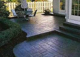 Backyard Stamped Concrete Patio Ideas Backyard Ideas With Concrete Landscape Design Ideas Backyard