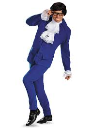 Size Halloween Costumes Men Deluxe Mens Austin Powers Size Costume Size Halloween