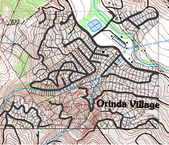 San Francisco Parcel Map by History Of Orinda Oaks