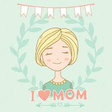 happy mothers day card in cartoon style u2014 stock vector lunter