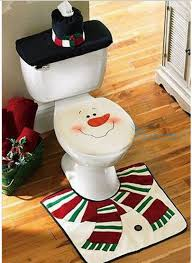 Christmas Decor For Home Santa Toilet 3pcs Lot Seat Cover U0026 Rug Christmas Decoration For