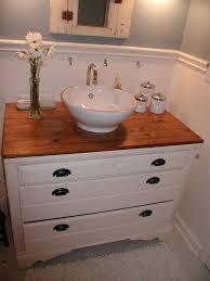 Old Dresser Bathroom Vanity From My Old House I Turned A 1000 Dresser Into A Bathroom Vanity