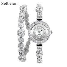 ladies silver bracelet watches images 2018 selberan brand luxury zircon waterproof lady wrist watches jpg