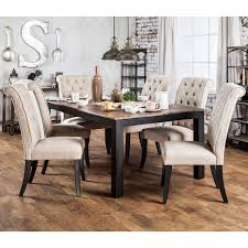 two tone dining table set signature design by ashley whitesburg 5 piece two tone cottage