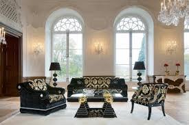 living room glamorous luxury living room with black victorian sofa
