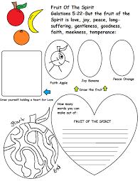 fruit of the spirit sunday lesson
