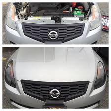 old nissan altima swapped the old chrome headlights on my altima coupe with new