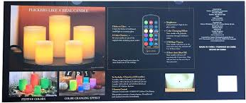 amazon com 5 led wax candles with remote control color changing
