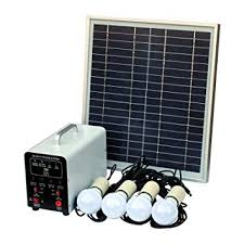 15w Off Grid Solar Lighting System With 4 Led Lights Amazon Co Uk