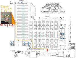 Austin Convention Center Map by Drawing A Blank The Art Of Cody Schibi Austin Comic Con Is Here