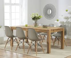 Dining Table Oak Verona 150cm Solid Oak Extending Dining Table With Charles Eames