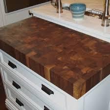 simple kitchen design with custom walnut butcher block countertops