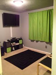 awesome green brown wood glass cool design boys bedroom decoration