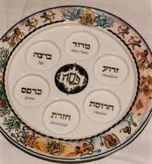 messianic seder plate passover pessach the exodus