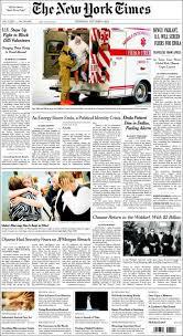 New York Times Travel by Newspaper New York Times Usa Newspapers In Usa Thursday U0027s