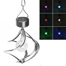 wind spinners with led lights outdoor lighting wind chimes led solar galaxy light rgb color