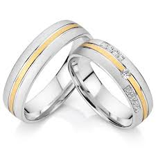 wedding ring white gold titanium cz diamond engagement wedding rings pair men and