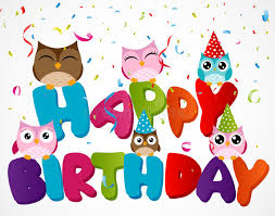 happy birthday card with owl stock vector image 40606583