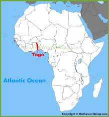 togo location on world map togo location on the africa map