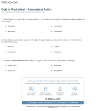 antecedent worksheet worksheets