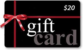 20 gift card all gift cards ship free and there is no tax