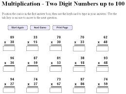 printable multiplication worksheets 6th grade multiplication
