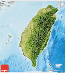Taiwan Map Asia by Satellite 3d Map Of Taiwan Shaded Relief Outside