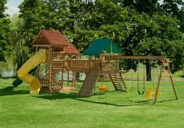 855 wooden elation station swing set play mor swing sets of