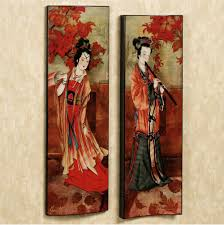 Home Decorating Wall Art by Art Of The Geisha Wall Panel Set Art Pictures And Paintings