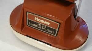 vintage hoover deluxe floor shampooer polisher youtube