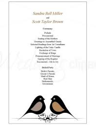 template for wedding programs one page wedding program template best business template